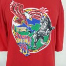 Diesel Brave 78 Mens Eagle Lion Worldwide Edition Only Red Graphic T-Shirt - 2XL