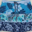 Tommy Bahama Swimsuit Mens Swim Trunks Relax Flowers Hawaiian Blue XXL 2XL