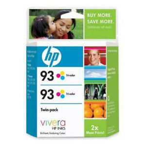Genuine HP 93 Tri-color Printer Ink CC581FN Twin-pack 9/2009 Free Shipping