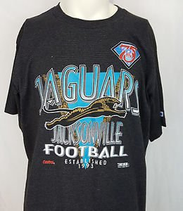 Vintage Jacksonville Jaguars Football Established 1993 Trench NFL T-Shirt - XL