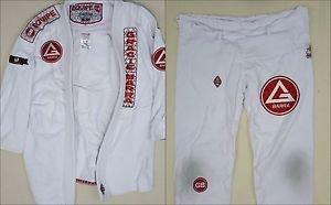 Gracie Barra Pro Gi White Official Kimono Brazilian Jiu Jitsu BJJ MMA PATCHES A1
