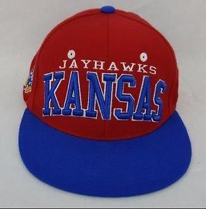 Kansas Jayhawks KU NCAA Authentic Zephyr Cap Flat Brim Snapback Hat - NEW