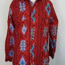 Vintage Wrangler Southwestern Aztec Native American Western Cowboy Shirt 15 x 33