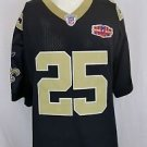 New Orleans Saints Reggie Bush #25 Reebok Super Bowl Patch Sewn Jersey Size 56