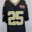 New Orleans Saints Reggie Bush #25 Reebok Super Bowl Patch Sewn Jersey Size 56