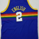 Alex English #2 Denver Nuggets Reebok Hardwood Classics NBA Sewn Jersey  5XL