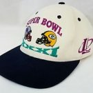VTG Super Bowl XXXI 1997 Green Bay Packers Vs New England Patriots Snapback Hat