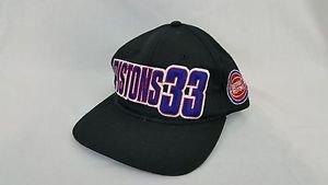Vintage Detroit Pistons Grant Hill #33 NBA Starter Snapback Hat Adjustable Cap