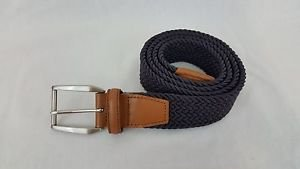 Brooks Brothers 346 Nylon Rubber Stretch Purple Belt Size 42