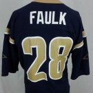 Marshall Faulk #28 St. Louis Rams Logo Athletic NFL Blue Jersey - L Large