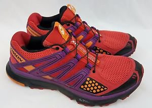 Salomon XR Mission 1 Contagrip Trail Running Women's Red Shoes Size 10