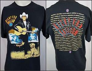 Vintage Ricky Van Shelton 1992 Concert Tour Country Graphic T-Shirt Size Large