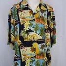 Tommy Bahama Mens Palm Springs Postcard Print Hawaiian Silk Shirt - L