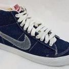 2002 Nike Blazer Mid Canvas SB Supreme Vintage Obsidian Denim Size 5 305556 441