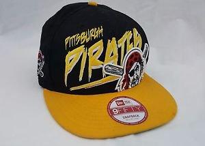 Pittsburgh Pirates Snapback Hat New Era 9Fifty Baseball Cap MLB Adjustable Black