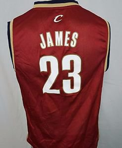 Cleveland Cavaliers Lebron James #23 NBA Basketball Adidas Jersey Youth Large