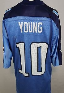 Tennessee Titans Vince Young #10 Blue Reebok NFL Football Jersey Size Medium