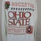 Vintage Ohio State University Buckeyes College NCAA White Sweatshirt Size L