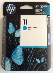 Genuine HP 11 Cyan Color Ink Cartridge C4836A 6/2014 Sealed in Box - NEW