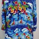 Polo Ralph Lauren Floral Aloha Hawaiian Button Front Rayon Shirt Size 2XL Tall