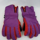 Patagonia Men  Purple Red Wrist Cover Zip Up Winter Ski Snow Gloves Size M