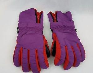 Patagonia Men  Purple Red Wrist Cover Zip Up Winter Ski Snow Gloves Size M