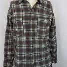 Pendleton Gray Red Plaid Long Sleeve 100% Pure Virgin Wool Shirt Size 16 Long