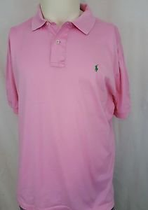 Ralph Lauren Short Sleeve Purple Label Made In Italy Pink Polo Shirt Size L