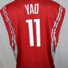 Houston Rockets Yao Ming #11 Red Reebok NBA Basketball Jersey Size XL