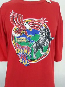 Diesel Jeans Brave 78 Eagle Lion Worldwide Edition Only Red Graphic Shirt - 2XL