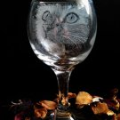 Engraved little kittens on vine glasses