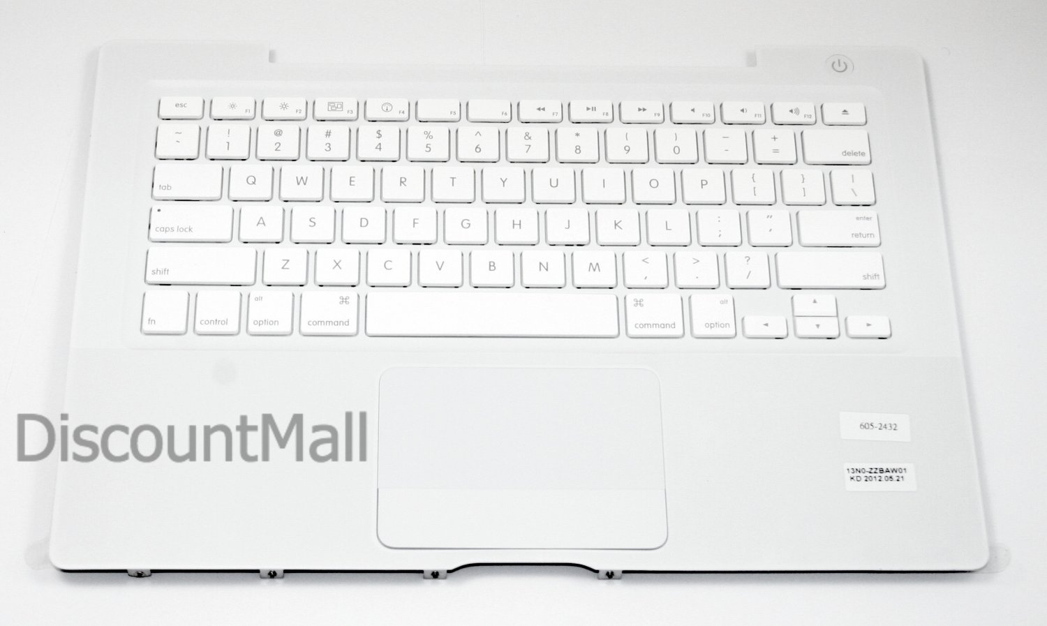 Genuine Apple Top Case Keyboard White MacBook Late 07, 08, early 09 A1181 922-9550