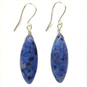 Blue Kiwi Jasper and Silver Earrings