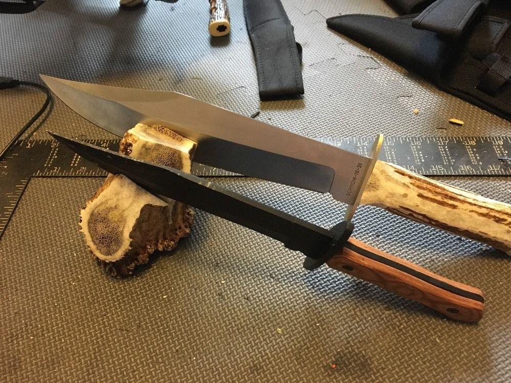 Hugh Elk antler Button piece ends cutoffs for crafts Knife Stand