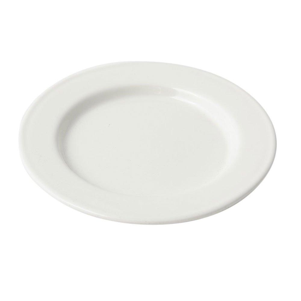 6 inch Rimmed Bread and Butter Plate Sandstone White