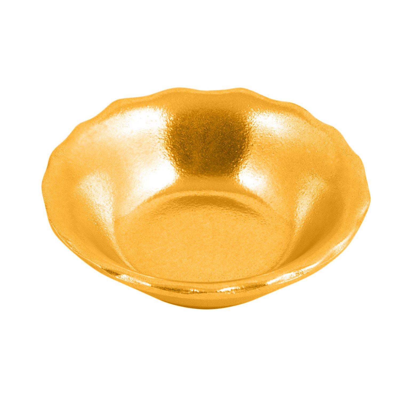 4 oz 4 1/2 inch RamekIn Fruit / Vegetable Sandstone Harvest Gold