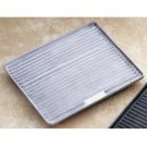 13 1/2 x 10 3/4 inch 1/2 Size Grill Tile Horizontal Pewter Glo