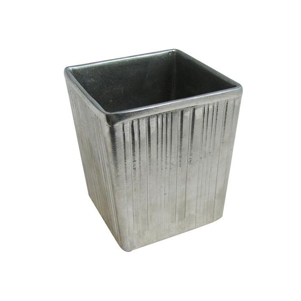3 qt 4 oz 6 x 6 x 7 inch Space Saver Dressing Container Sandstone Platinum Gray