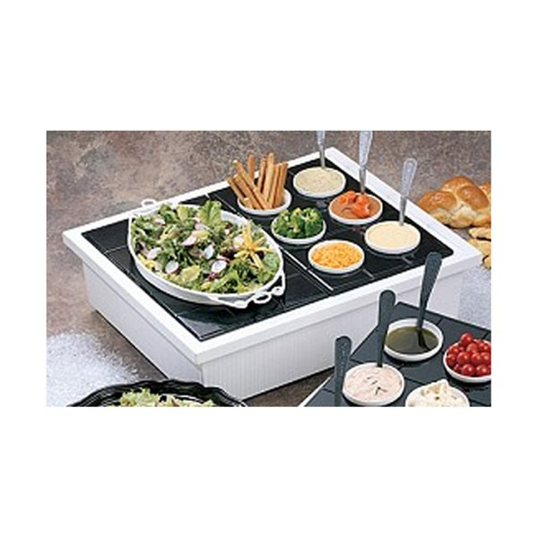 29 3/4 x 24 1/4 x 7 3/4 inch Insulated Ice Station Double Pewter Glo