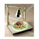 24 x 18 x 30 1/2 inch Carving Station with Sneeze Guard and Heat Lamp Chrome Almond