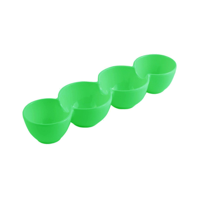 4 x 14 x 2 1/2 H inch Condiment Server Sandstone Hunter Green