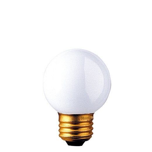40 Watt Incandescent G16.5 Globe Medium Base White/Set of 50