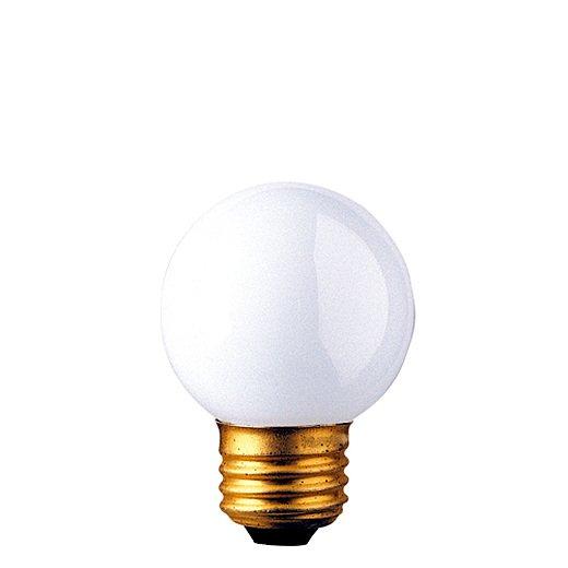 25 Watt Incandescent G16.5 Globe Medium Base White/Set of 50