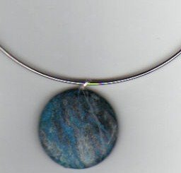antiquish blue stone necklace