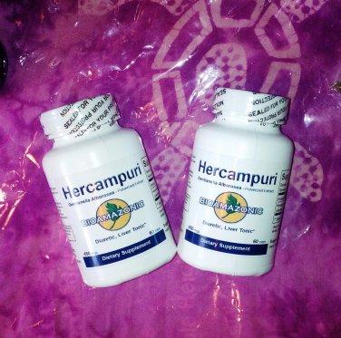 2 HERCAMPURI Capsules BITTER TEA Liver tonic.Fat-Burner.Hang-over.Hepititus.PERU