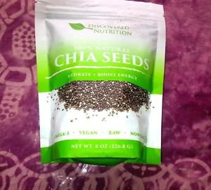 CHIA SEEDS Omega-3 Fiber Energy Antioxidants ORGANIC VEGAN NON-GMO 227grams.8 oz