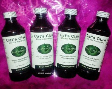 4 CATS CLAW bark herb UNA de GATO inflamation, immune,arthritis,cancer LIQUID 4