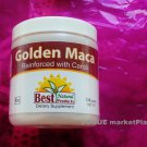 golden MACA HERB POWDER peruvian virility energy. CAROB FLAVOR 4.3 oz 120 grams