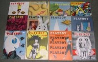 PLAYBOY 1954 MAGAZINES 12 ISSUES