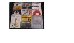 PLAYBOY 1960 MAGAZINES 12 ISSUES 60's JAN. ~ DEC.